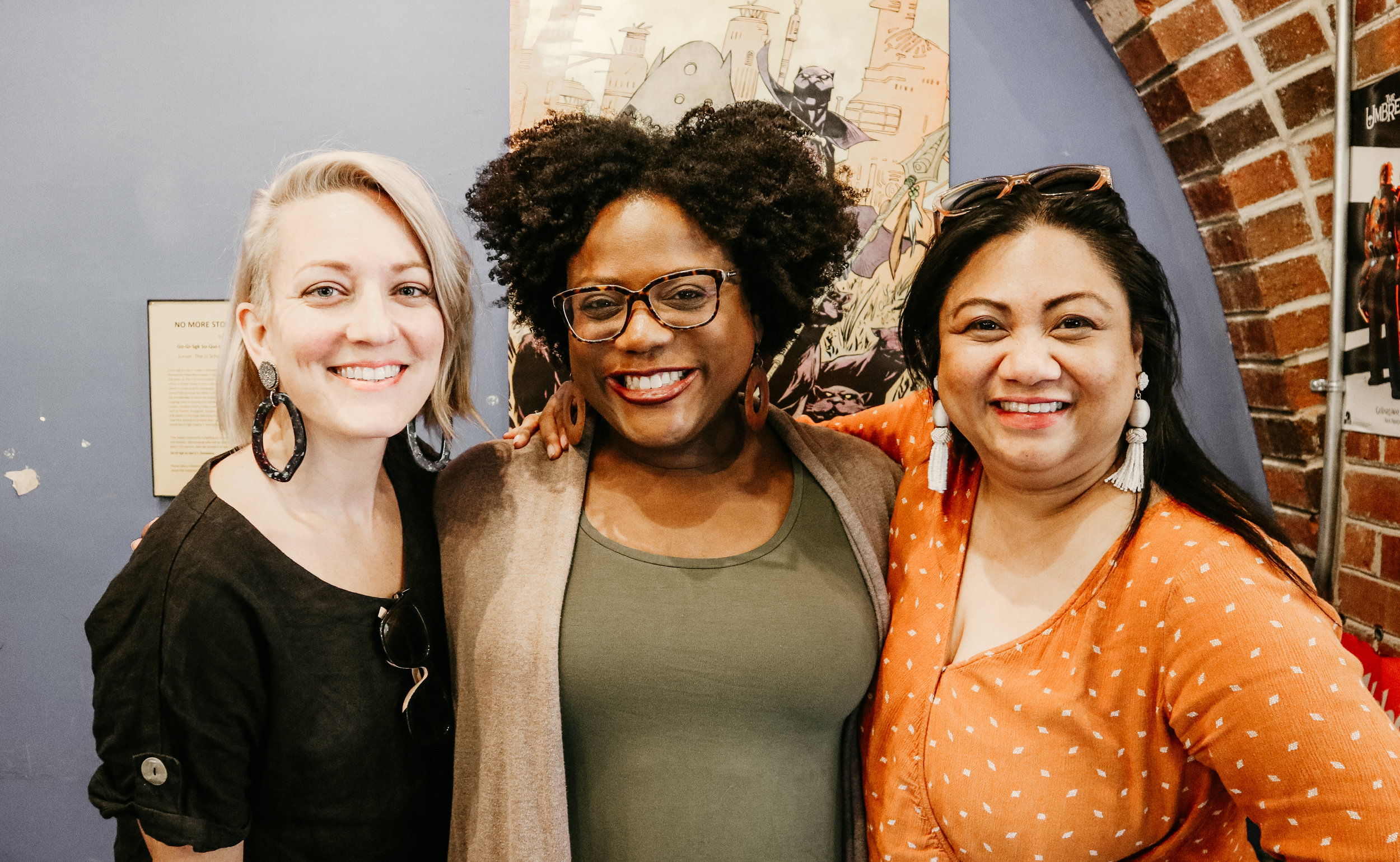 10K Dollar Day hosts Alison and Lulu with Toya Haynes, host of The First Time I Heard at Respect: Women's Podcast Festival 2019