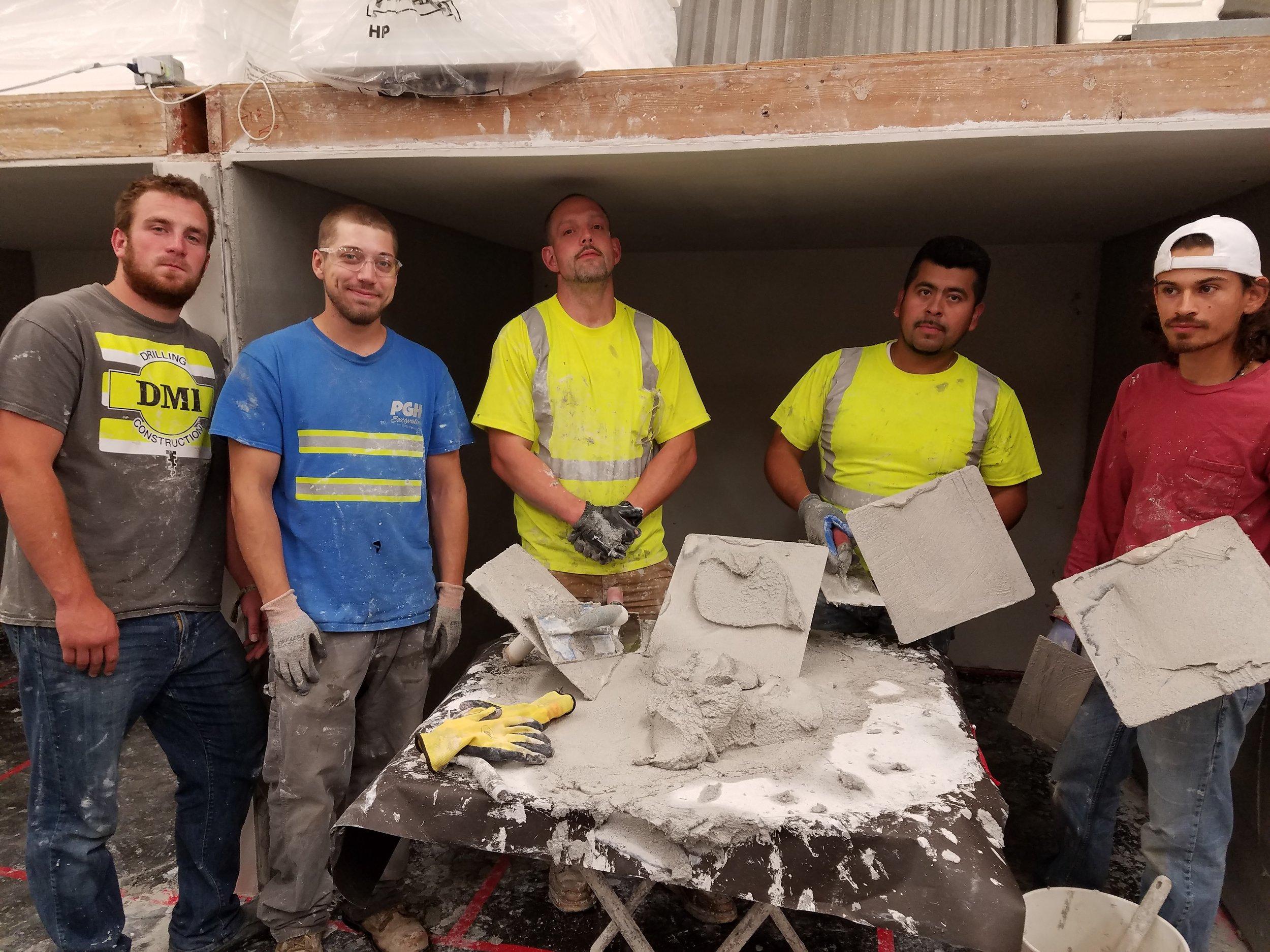 Plasterer apprentices