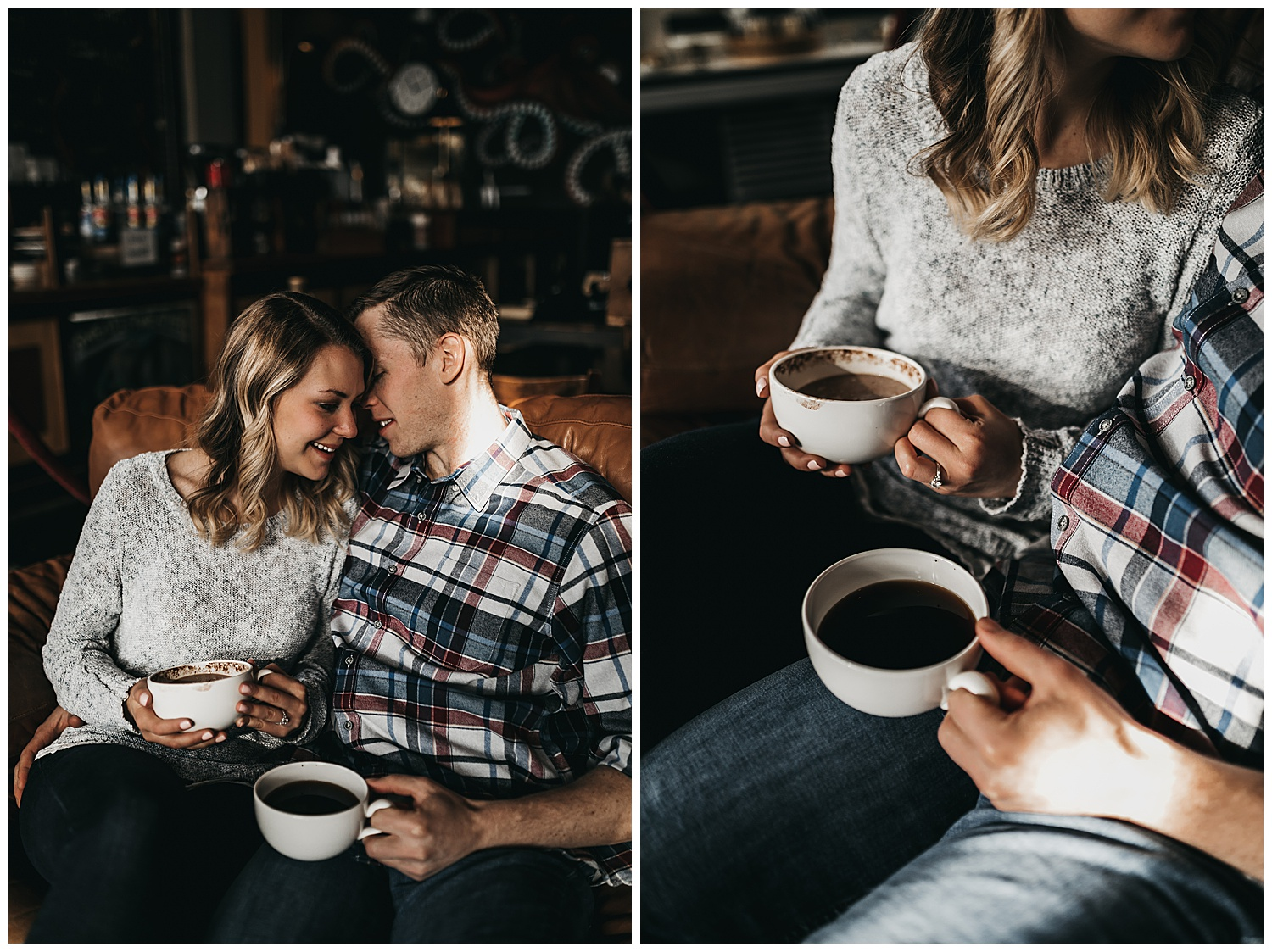 cuddly engagement session