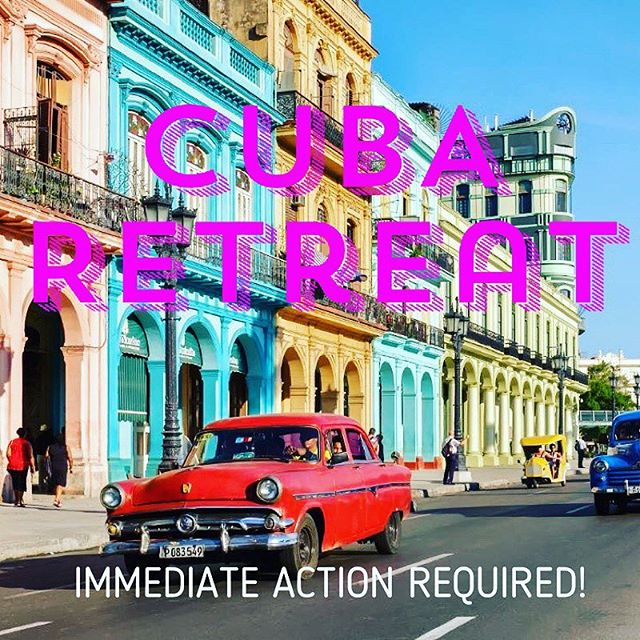 GUYS!! If you are even CONSIDERING coming to Cuba with Ranier in August you need to know the following: Trump MAY REVISE TRAVEL RESTRICTIONS May 2nd. In order to protect your ability to come to Cuba in August, you need to be able to prove that you had travel plans made BEFORE MAY 2nd! This can be booking your airfare or putting a deposit on the retreat NOW. Because of this @yogaandadventuresworldwide now allows you to put a refundable $150 deposit down on their site toward my retreat so that your plans are protected. SO GO DO THAT NOW! Ok? Ok.  Fewf.  Let's do this guys. It's gonna be amazing. Trump can't stop this CUBA PARTY!  https://yogaadventuresworldwide.com