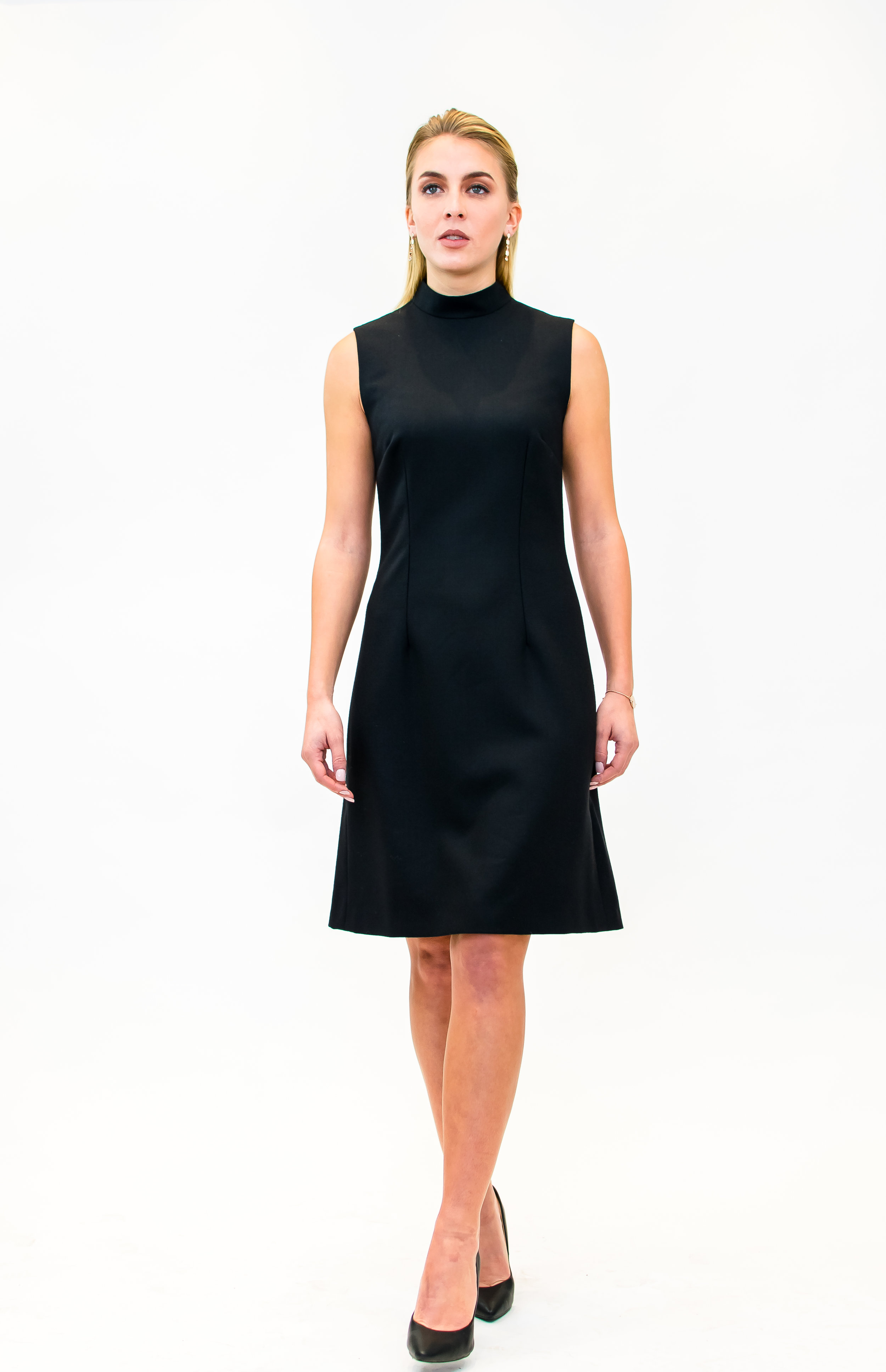 Stand up collar dress