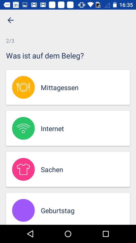 Riso App Screenshot Beleg Upload Schritt 2 Android