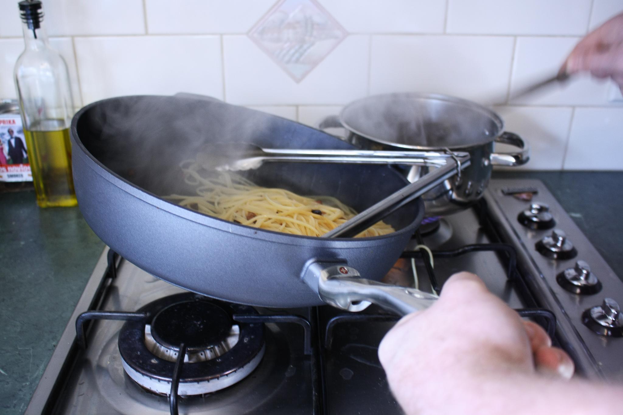Traditional Carbonara Recipe - Tossing Pasta