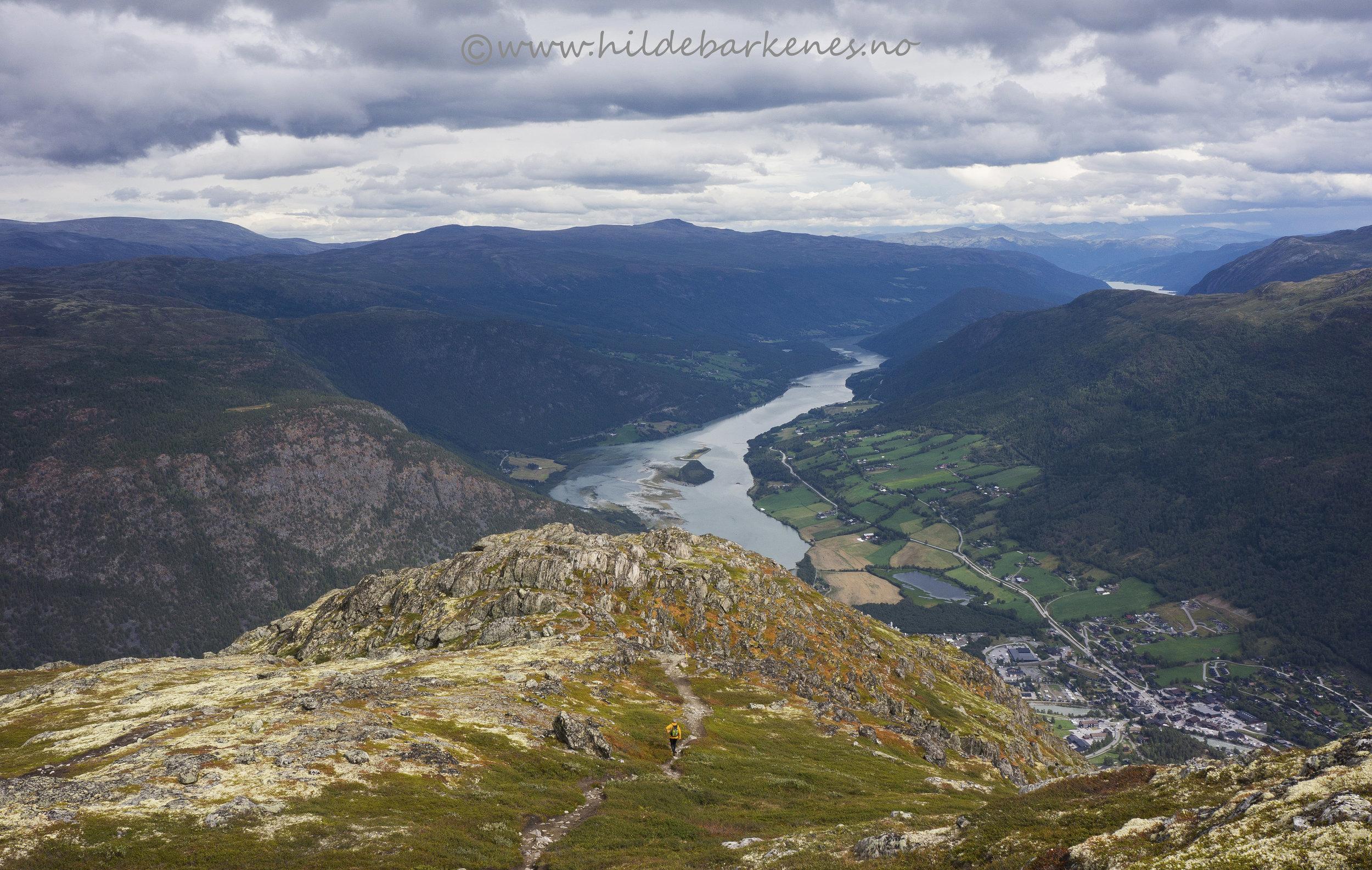 Utsikt fra Lomseggen, 1289 moh