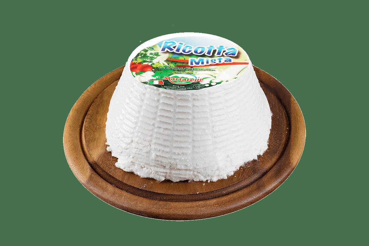 RICOTTA MISTA - INGREDIENTI: Siero di latte ovino e vaccino, latte, sale, acido latticoCARATTERISTICHE: Cremosa, sapore delicatoCONSERVAZIONE: 0/4°C.