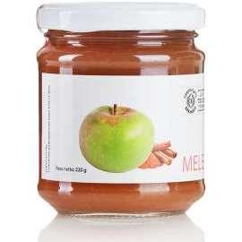 CONFETTURA DI MELA ROSA BIO E CANNELLA BIO   - Descrizione: Antica varietà di melo coltivata nell'area pedemontana dei Monti Sibillini. La sua buccia è un serbatoio di pectine, la sua polpa un concentrato di antiossidanti. La cannella è un ottimo antisettico, disinfettante e antiossidante naturale.Ingredienti: mela rosa bio, zucchero di canna bio, succo di limone bio, cannella bio.