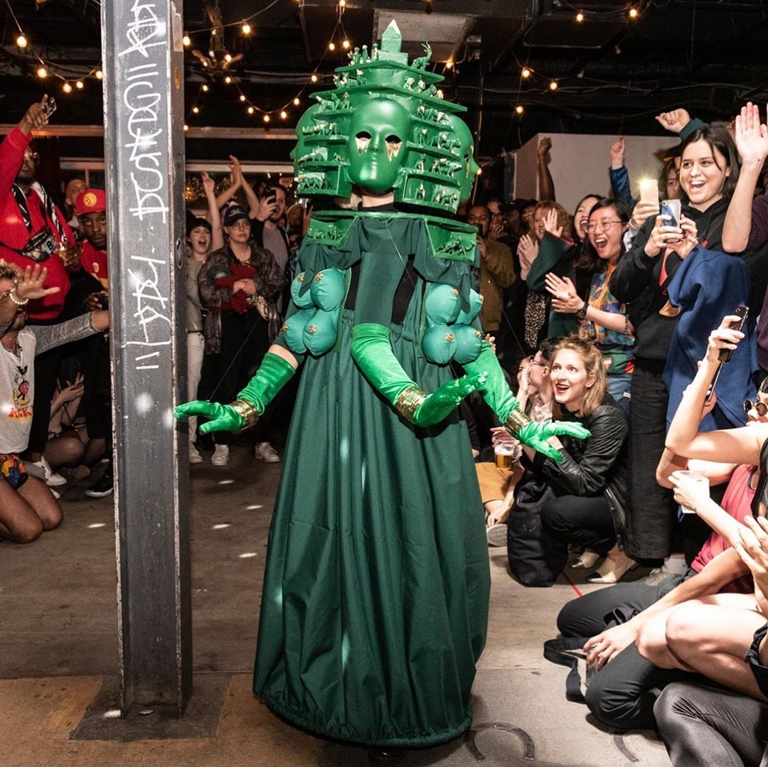 Earth Mother! Snatching the trophy for Bizarre at the Mother's Kiki Ball. Video below