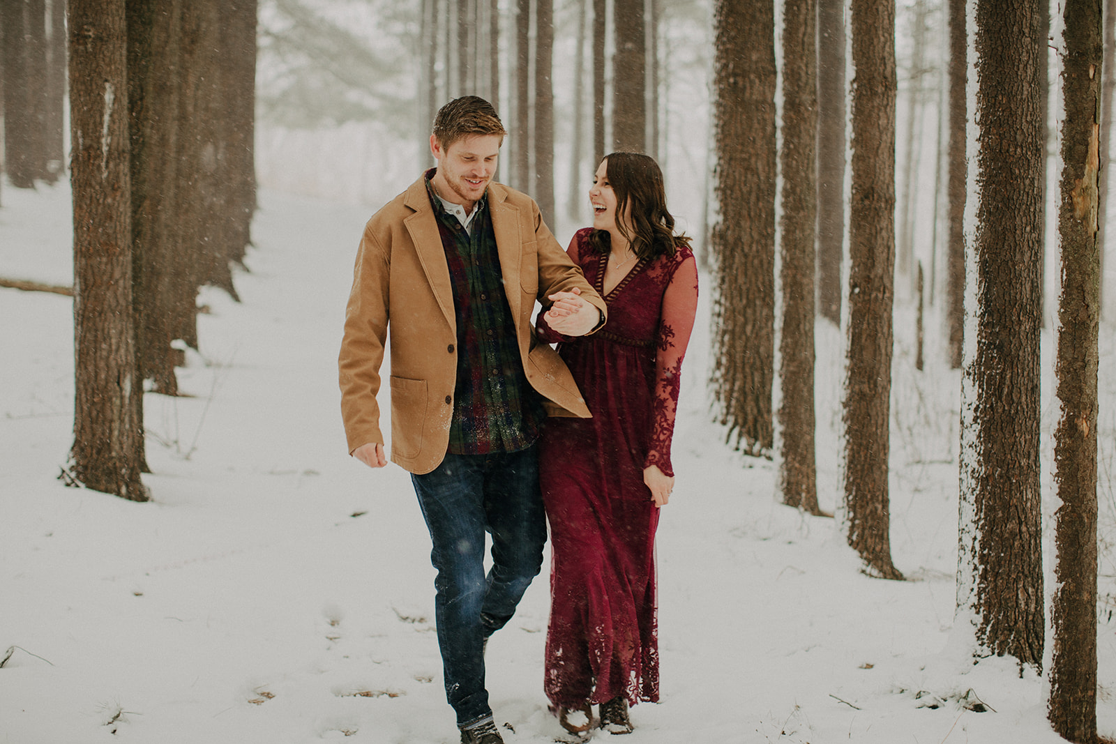 Abbie & Nathan's Snowy Engagement - Johnsburg, IL