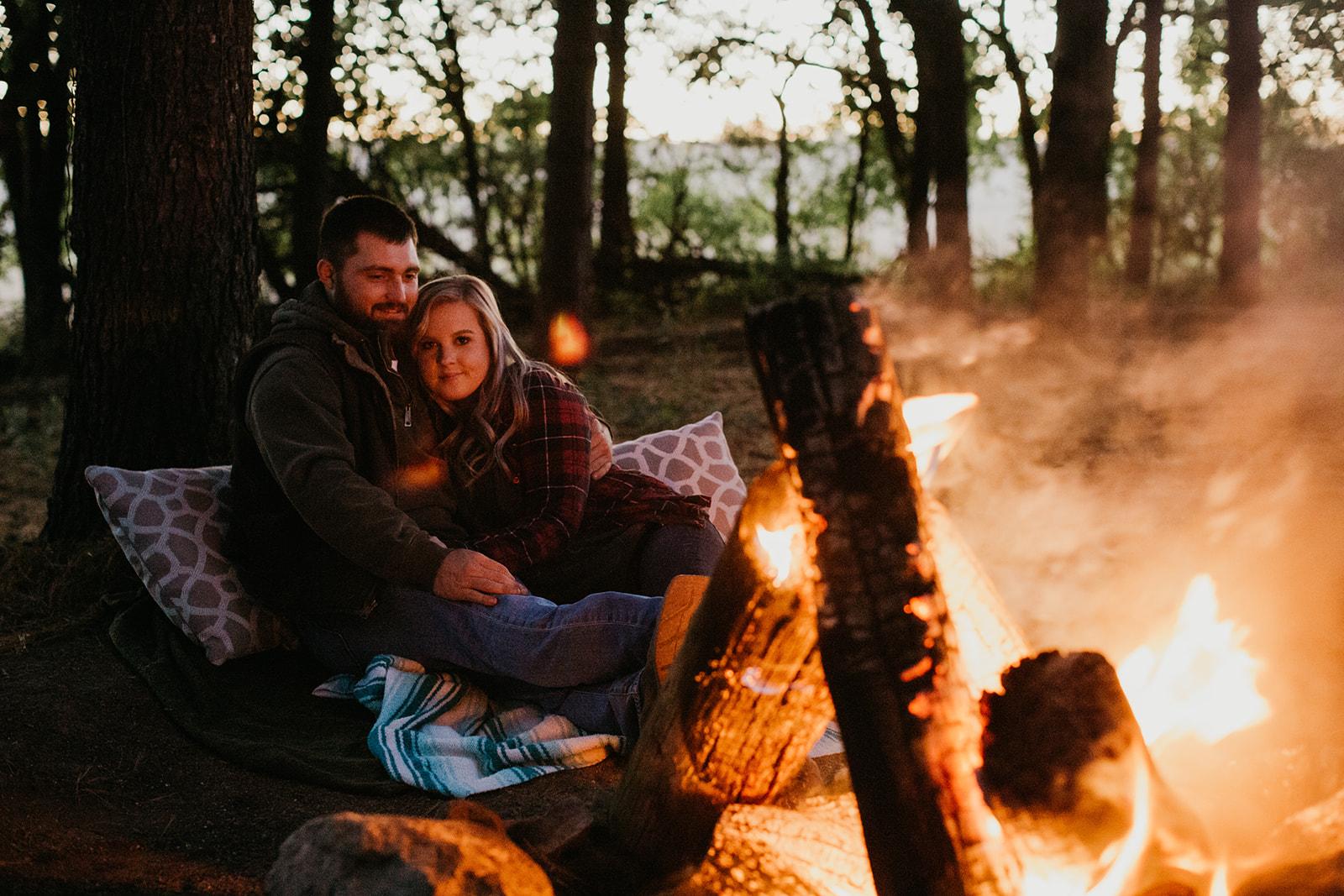Taylor & Brady's Bonfire Engagement - Bloomington, IL