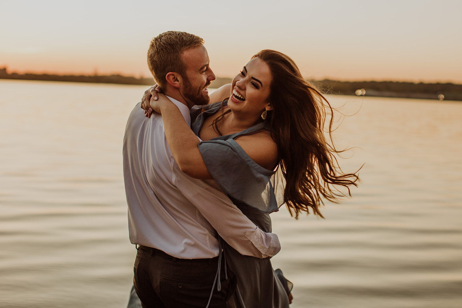 Sydney & Kyle's Peoria Riverfront Engagement - Peoria, IL