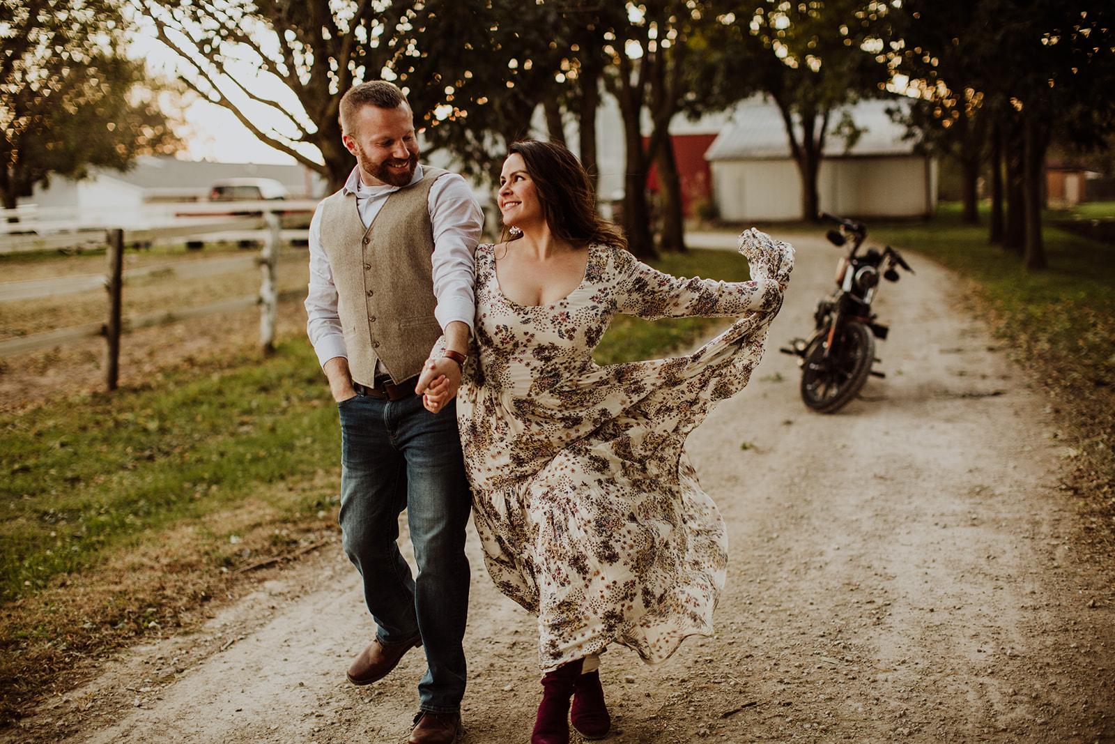 Sarah & Nick's Free Spirit Engagement - Springfield, IL