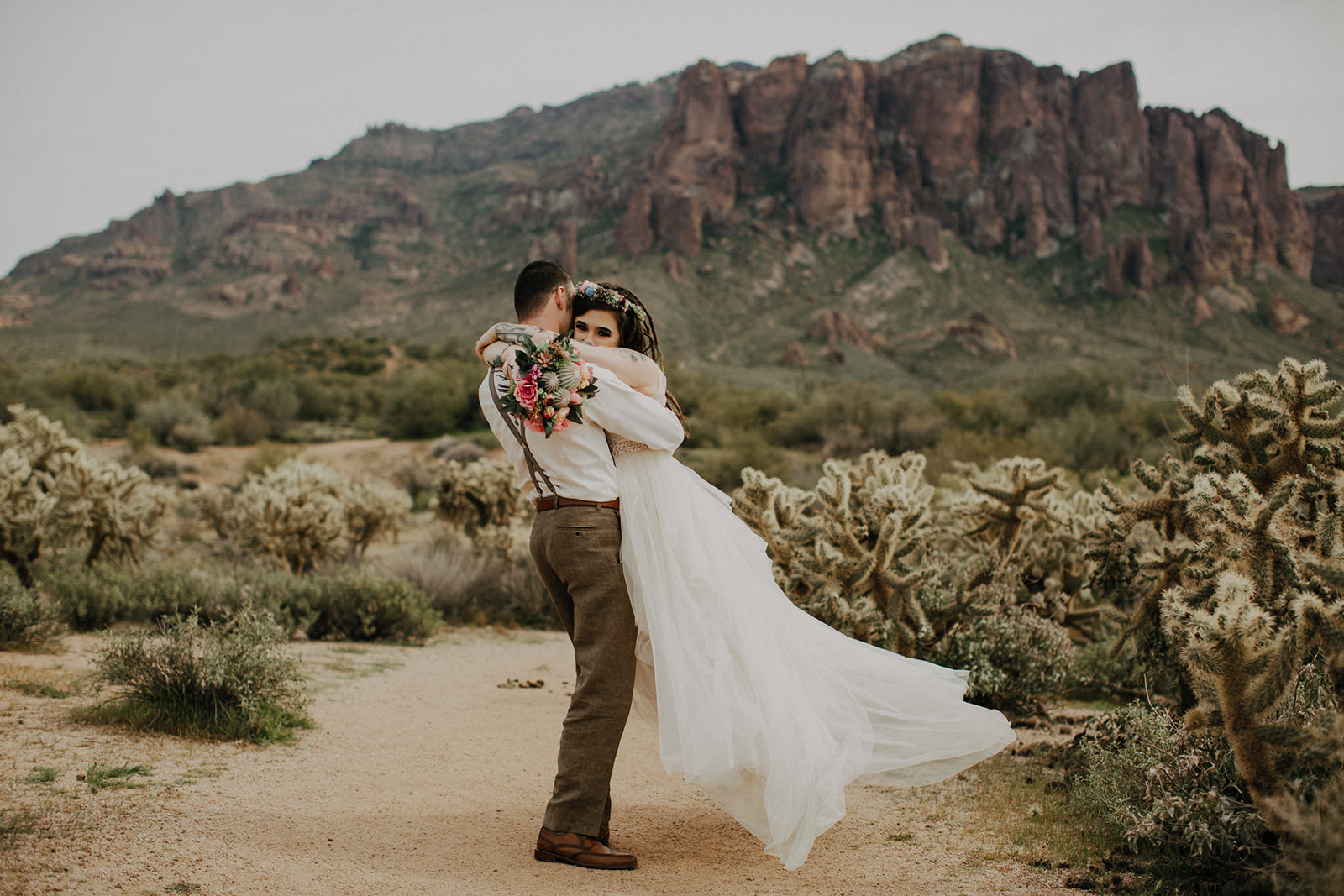 boho arizona wedding