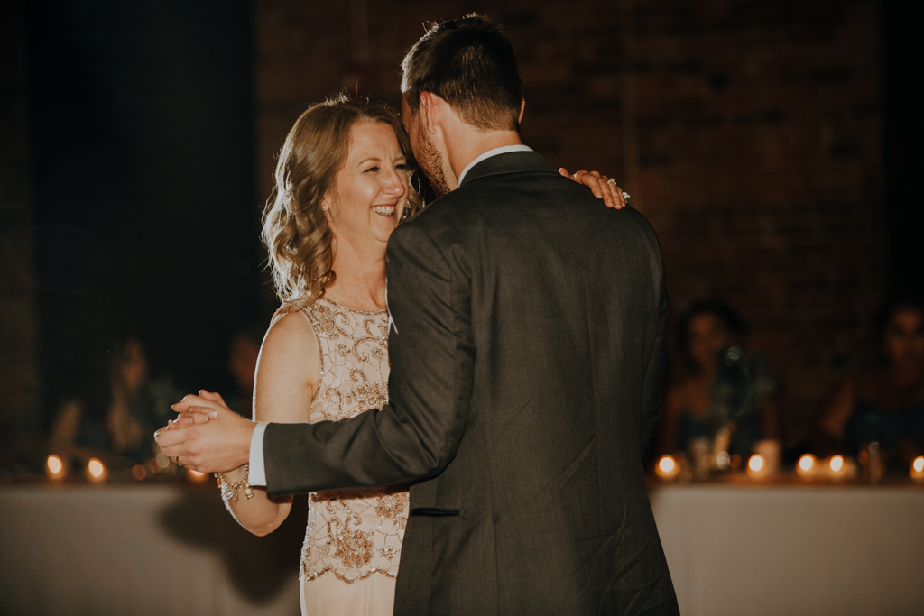 Romantic Candlelit Trailside Event Center Wedding Peoria IL