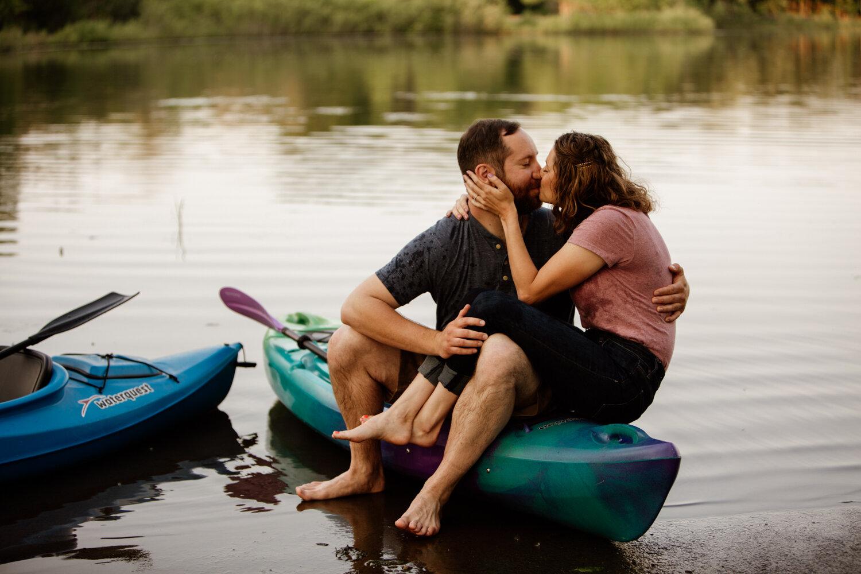 Nadia & Mike's Kayaking Engagement - Aurora, IL