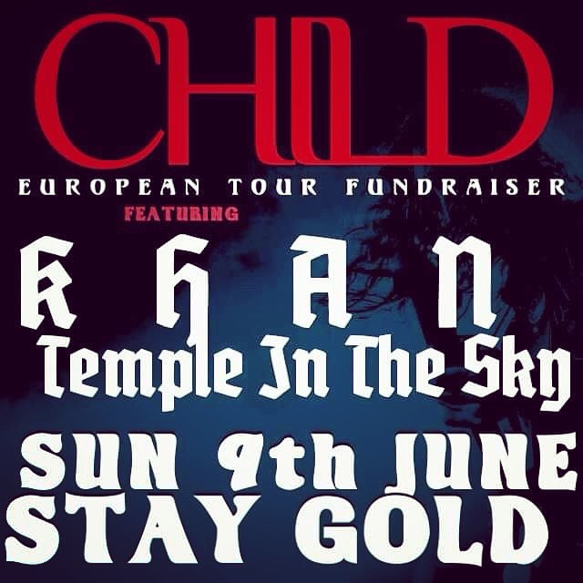 CHILD 2019 European Tour 'Fare-raiser' Melbourne! *LINEUP CHANGE*  Unfortunately The Pictures can no longer play this Sunday. Journey rockers @khanbandofficial will be stepping up to the plate as well as @temple.in.the.sky .  50% off ALL T-SHIRTS (limited sizes) and CD's only $10!