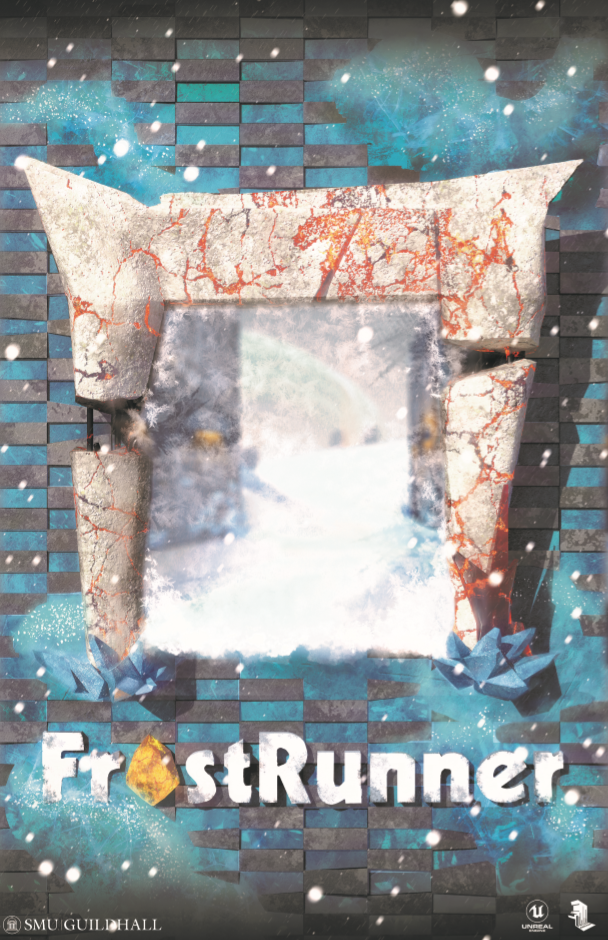 "FrostRunner - FrostRunner is a ""speedrunning"" first person platformer developed by a 14 person team. I was the UX Producer."