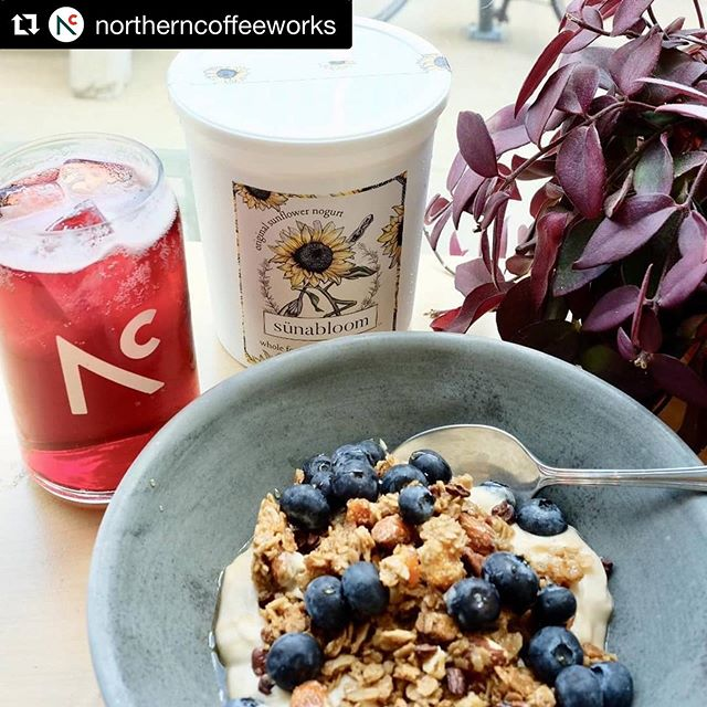 We're adding @northerncoffeeworks to the list of local cafés where you can order sünabloom! 😍 #Repost @northerncoffeeworks with @get_repost ・・・ Happy to announce that we are now serving @sunabloom yogurt. Sünabloom is a local company making plant based yogurt from sunflower seeds. You can try it now as our new dairy free option for yogurt and granola (ask to make it vegan by replacing the honey with maple). We are excited for this new product and may have some vegan treats in the works!! #sunabloom #plantbased #localfoods #plantbasedpower #twincitieseats