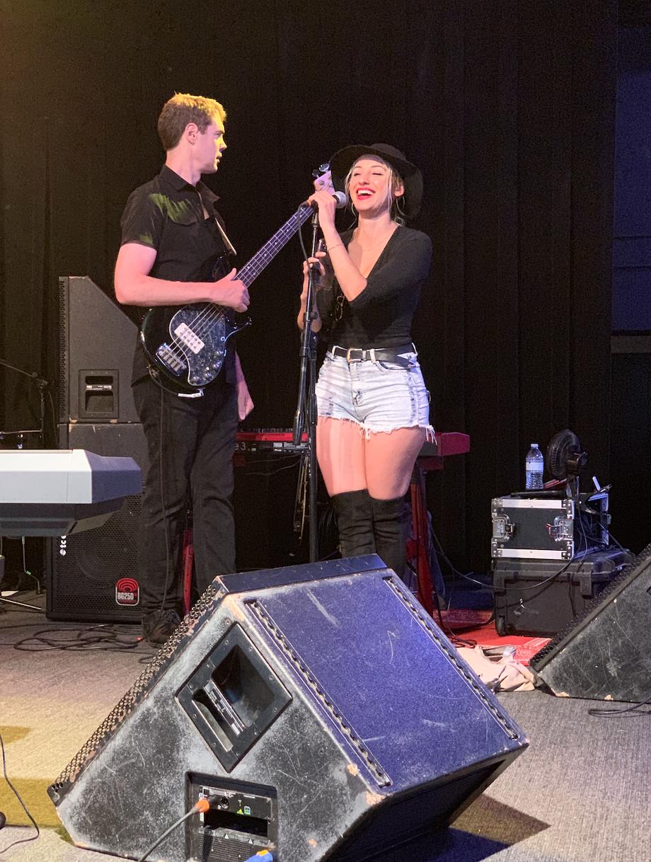 Trevor Coen & J Antonette warming up at The Vinyl Theater in Pensacola