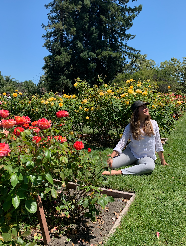 Courtney McKenna in San Jose Rose Garden