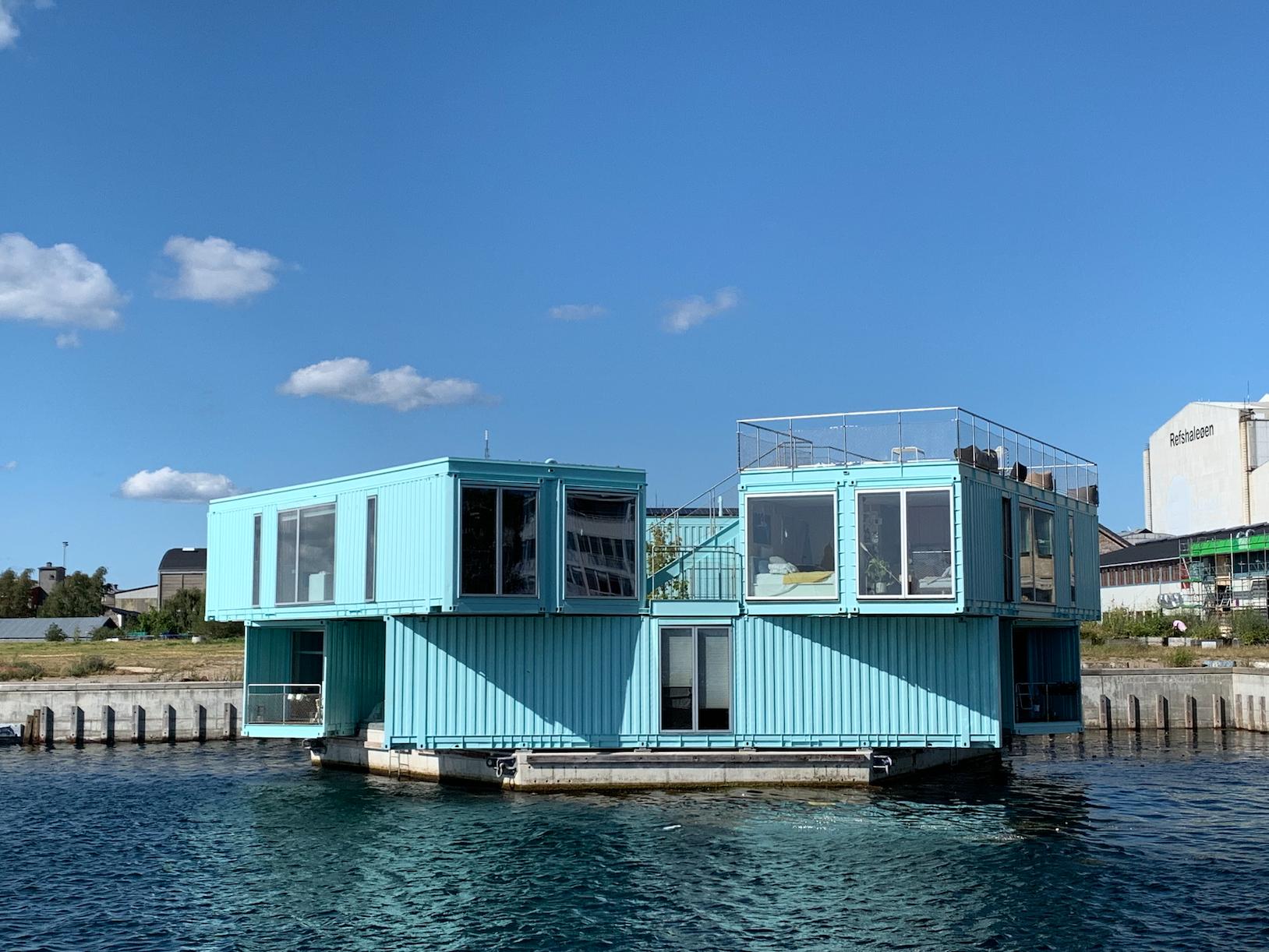 Floating home in Copenhagen