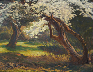 Eleanor's Plum Tree, Ray Strong. Wildling Museum