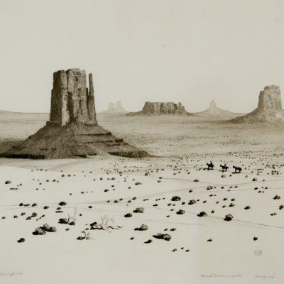 George Elbert Burr, Desert Monuments, Arizona, print, 2004.2.1
