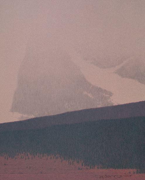Snowfall at the Foot of the Absaroka Mtns, 2004
