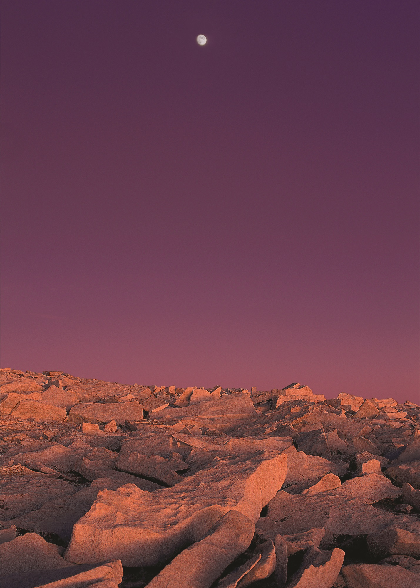 Jeff Jones, Moon and Mt. Whitney, 1993