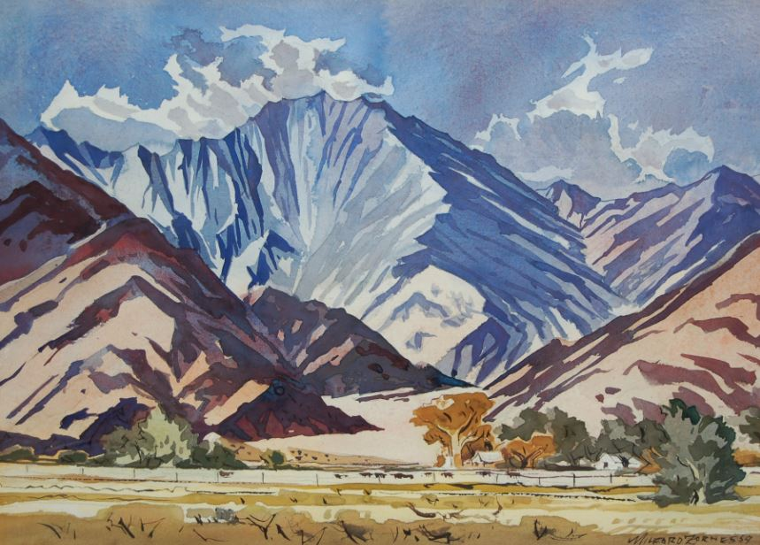 Milford Zornes, Mt. San Jacinto, 1959, Mason Molki Collection