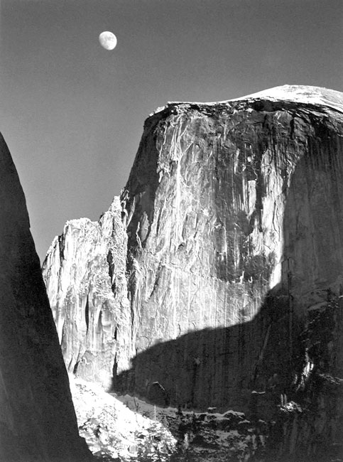 Moon and Half Dome, Yosemite National Park, California, 1960
