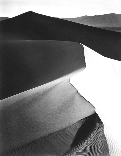 Sand Dunes, Sunrise, Death Valley National National Monument, California, 1948
