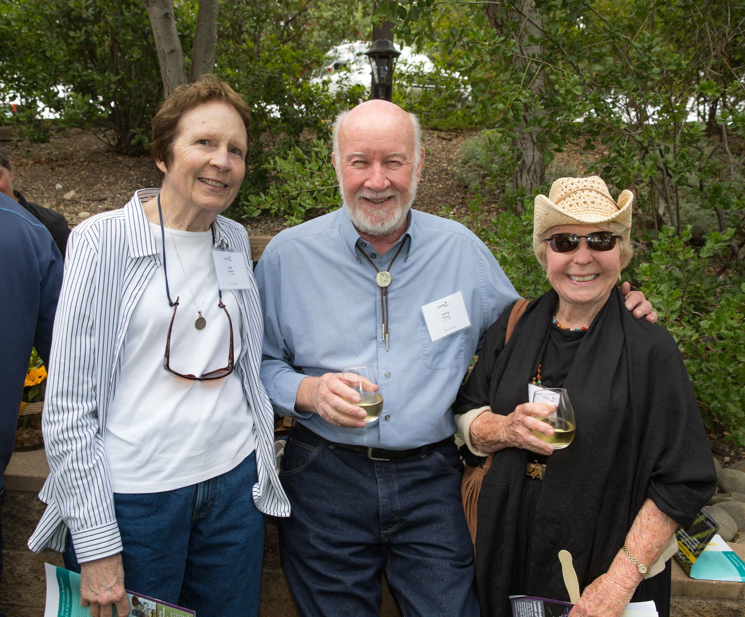 Sue and Larry Browne, with June Sochel, Board Member