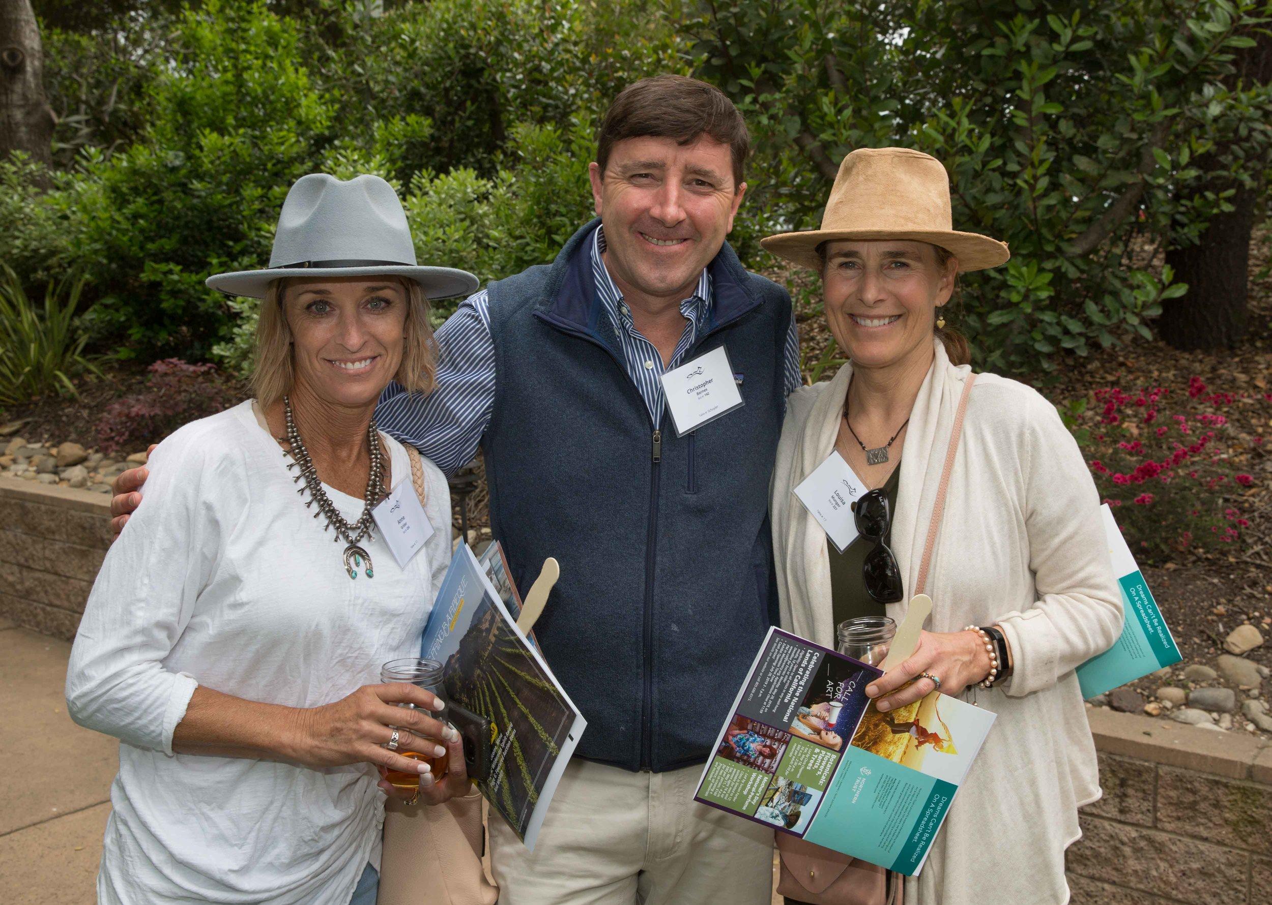 Ann Grider, Christopher Barnes, and Louisa Munger