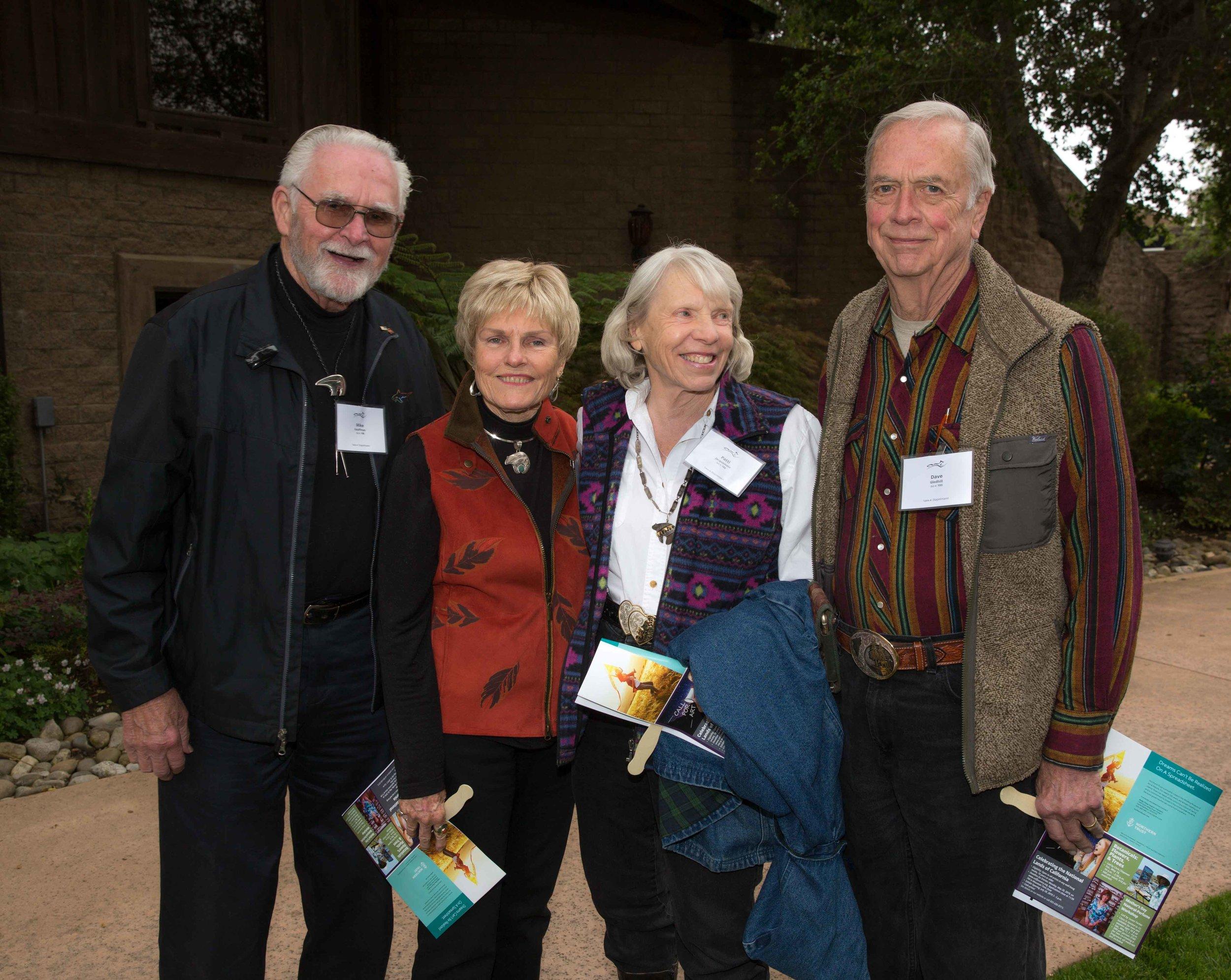 Mike and Marian Kauffman with Patti Jacquemain, Founder, Emeritus and David Gledhill, Treasurer