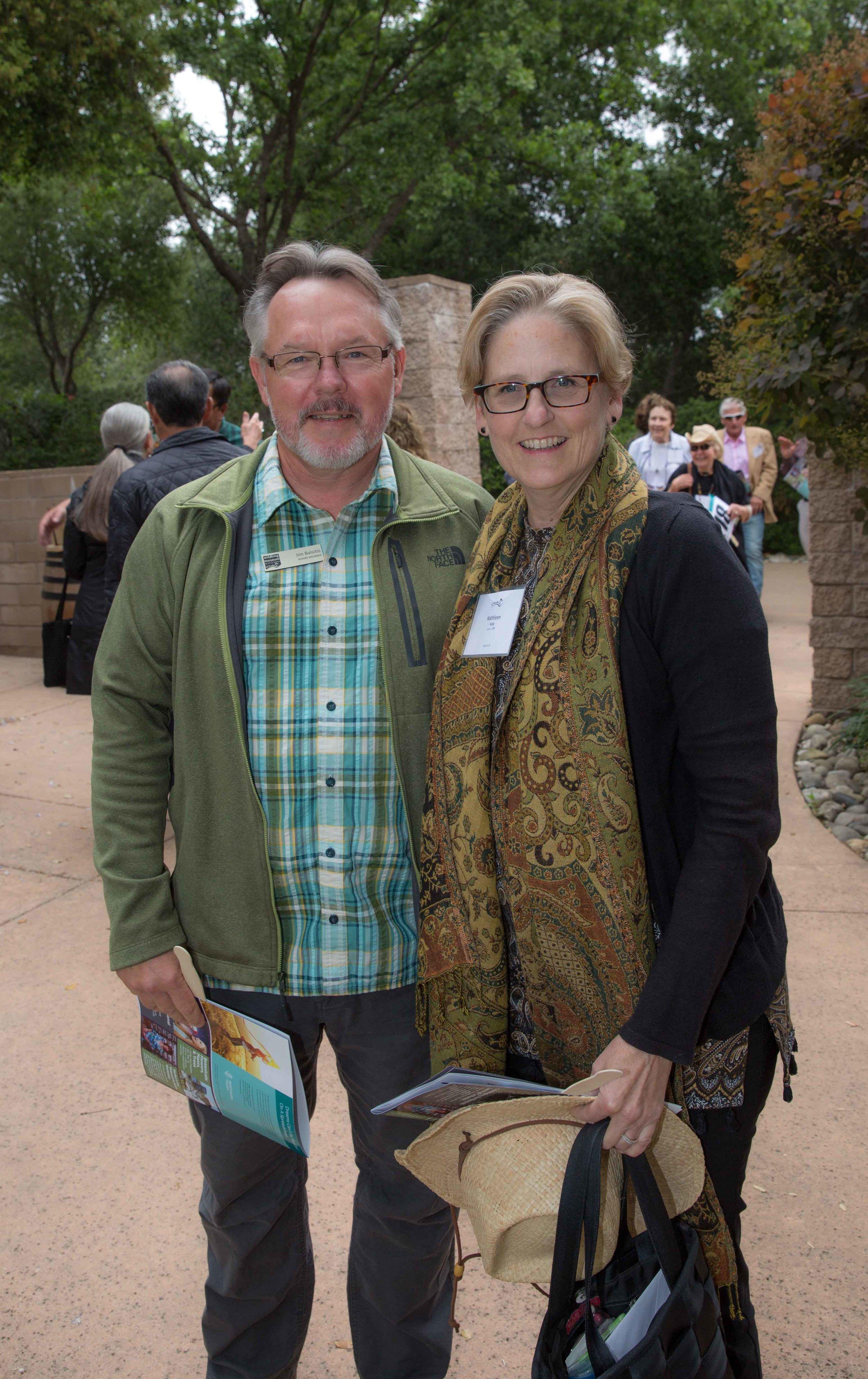 Jim Balsitis, Board Member and Kathleen Kalp