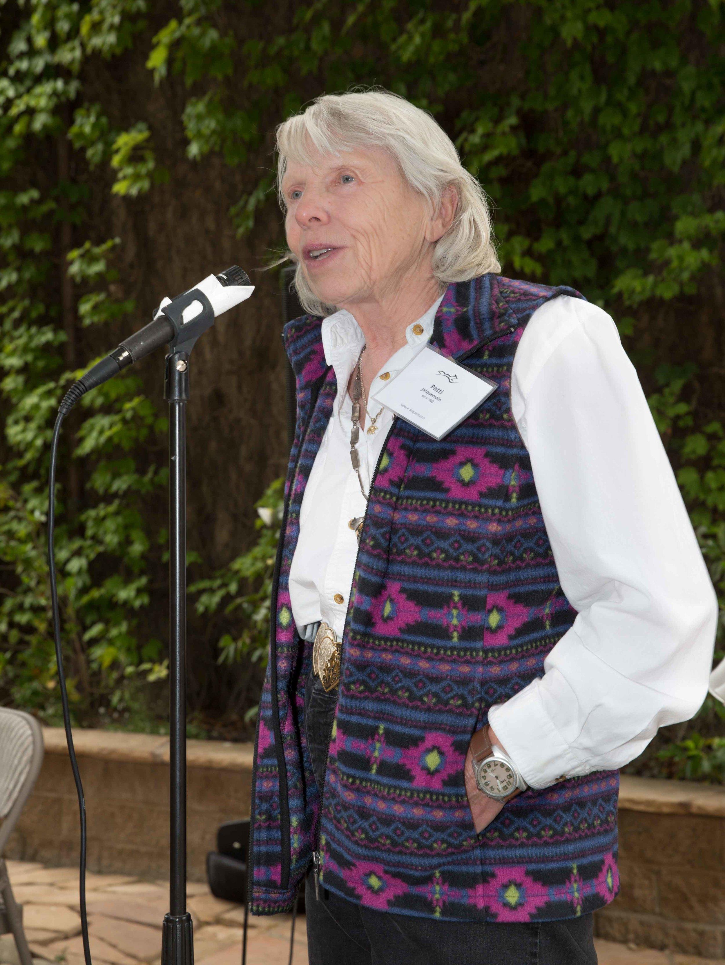 Patti Jacquemain, Founder, Emeritus