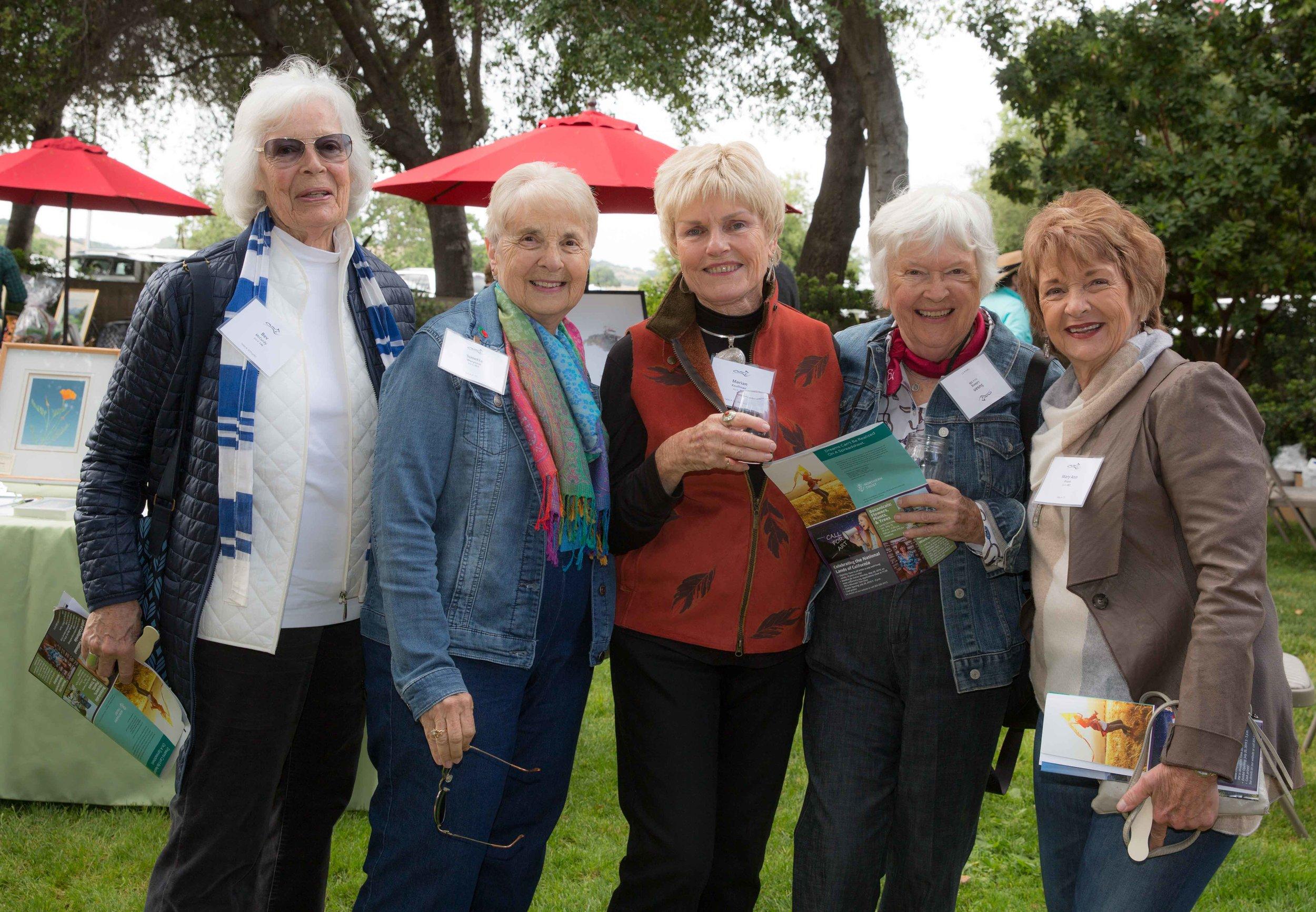 Bev McCurdy, Susette Warynick, Marian Kauffman, Susan Loberg, Mary Ann Evans