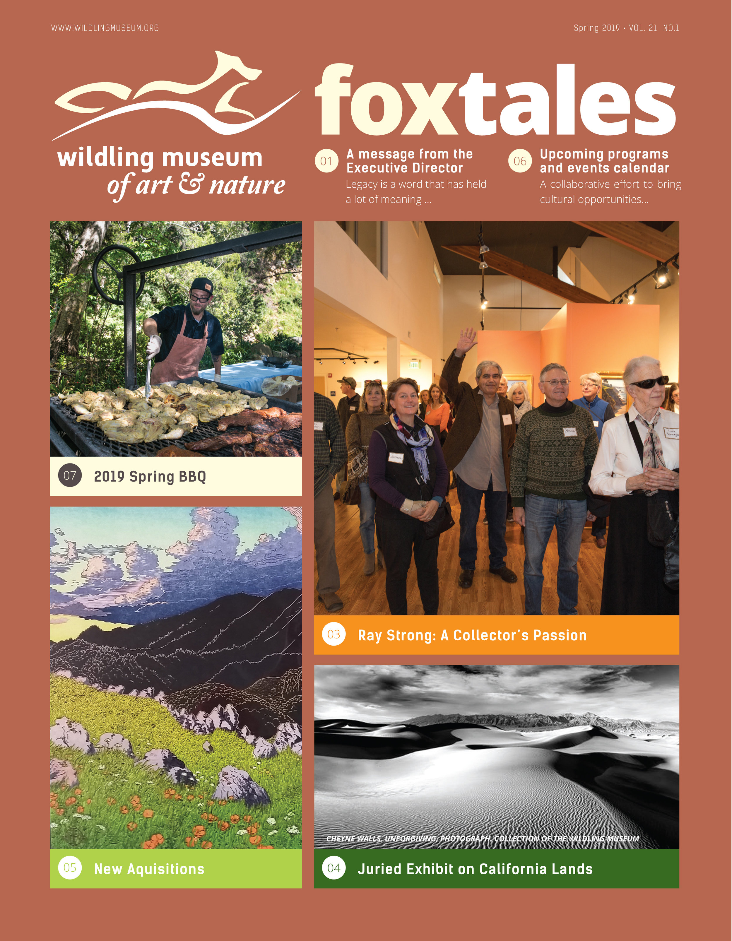 Click here to enjoy a sampling of the Wildling Museum newsletter,  Fox Tales .