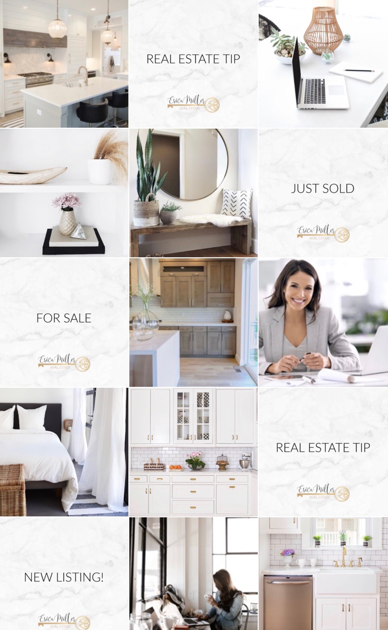 Real Estate Instagram, Neutral Theme
