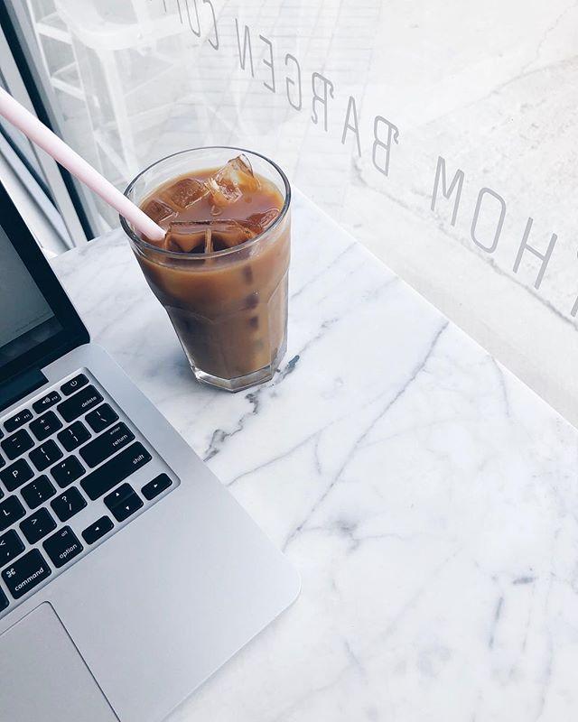 Today's office 💻 (Friday's + iced coffee season = 😄) . . . . . . . #branding #logodesign #graphicdesigner #brandidentity #branddevelopment #designoftheday #rosegold #bossbabe #bossbabes #businessbabe #entrepeneurlifestyle #girlboss #dreambig #getsocial #discoverunder5k #startupbiz #onmydesk #whereiwork #womenempowerment #womensupportwomen #womanpower #instantbossclub #smallbiz #etsywinnipeg #happyfriday #socialmediamanager #socialmediamarketing #melodieco #helloapril