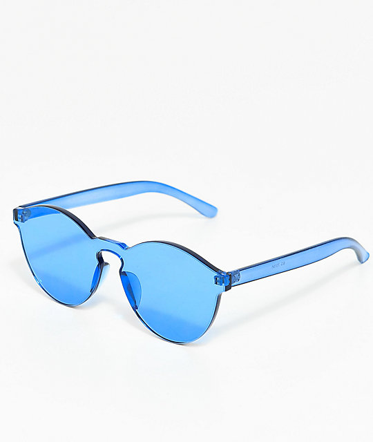 Clear blue glasses -