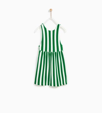 Green Striped Dress -