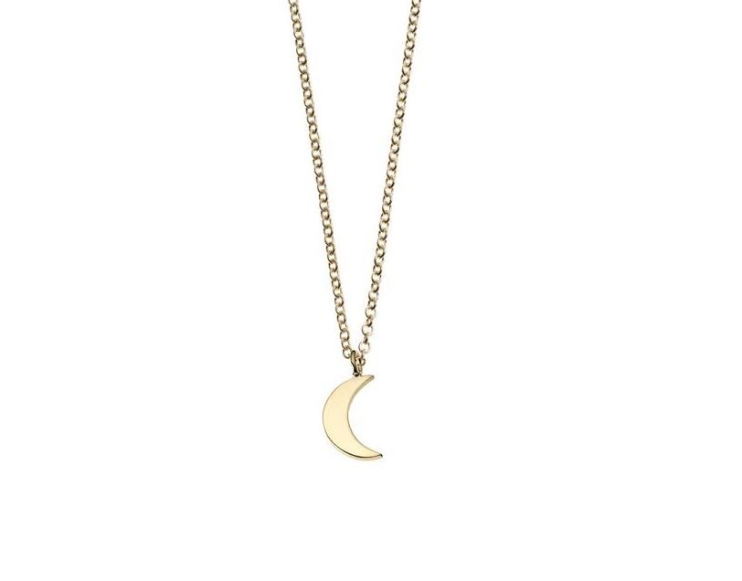 Moon Charm Necklace  -