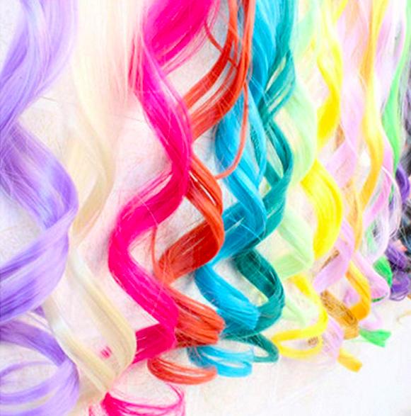 Blue Hair Extensions -