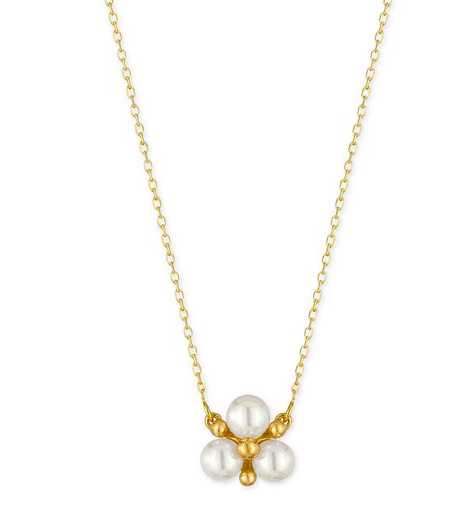3. Pearl Cluster Necklace -