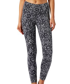 2. Black and white Speckled Leggings -