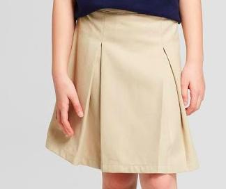 2. Khaki Pleated Skirt -