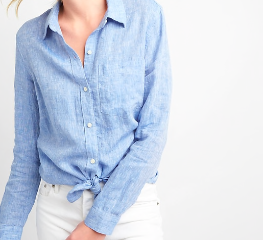 Blue Button-Down Shirt -