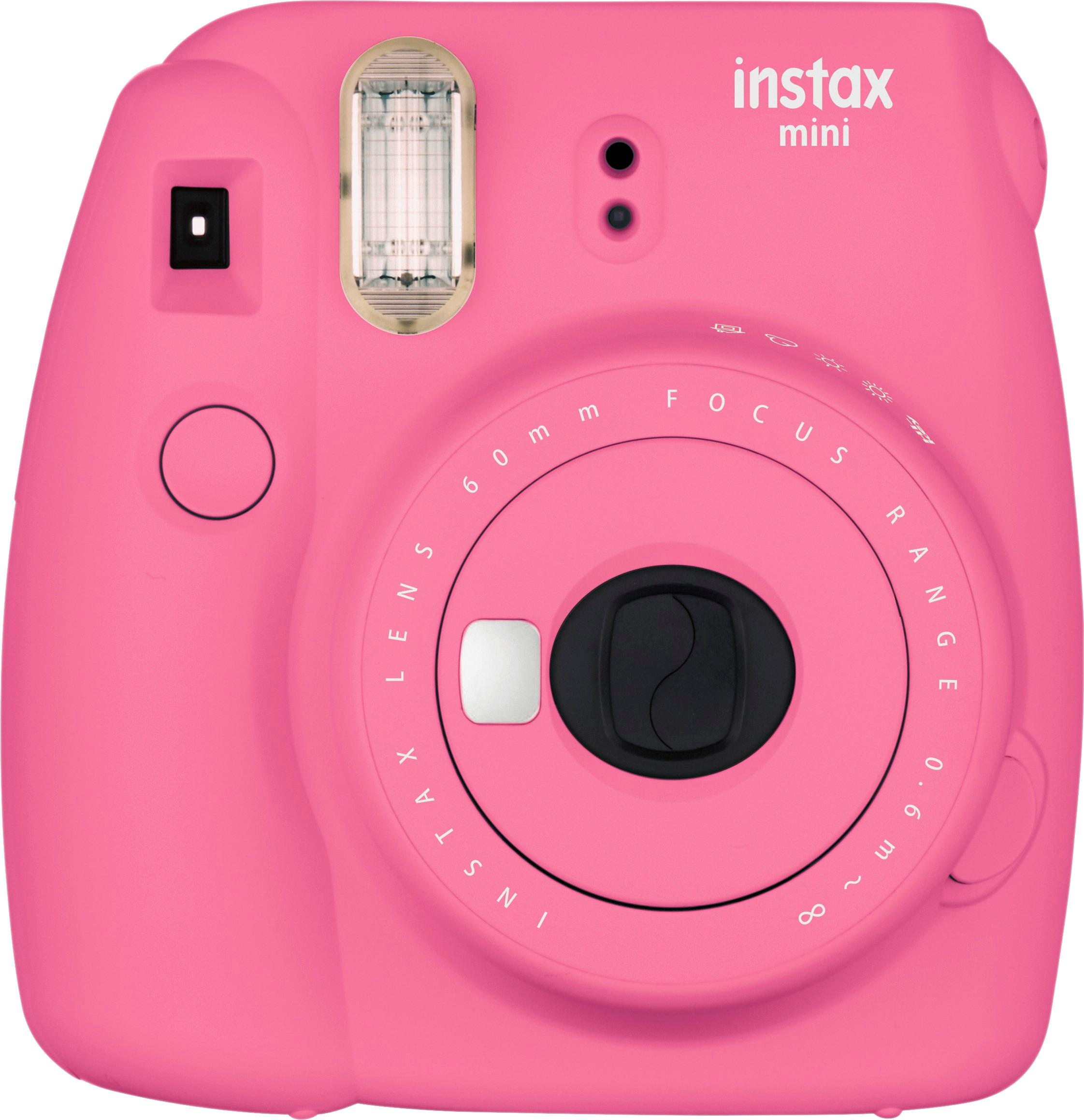 Pink Instax camera to document the fun! -