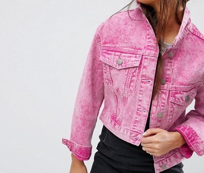 Pink jean jacket -